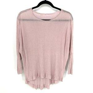 Eileen Fisher 100%Linen Long Sleeve HiLow Pullover